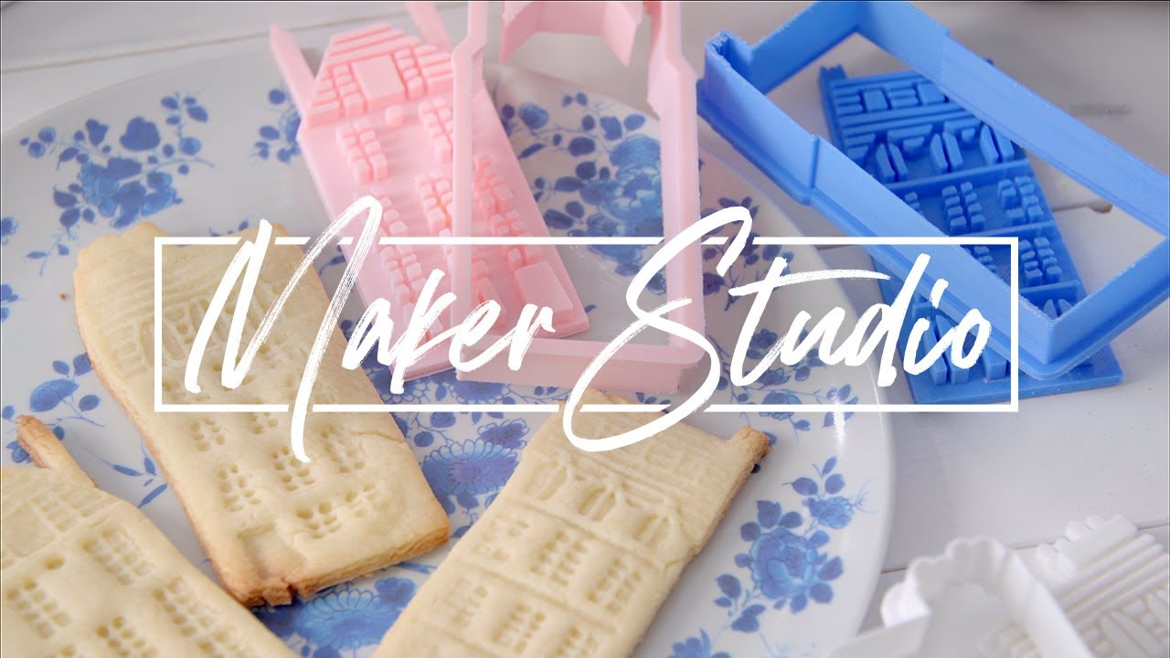 Maker Studio 3d Printed Cookie Cutters Stamps Youtube