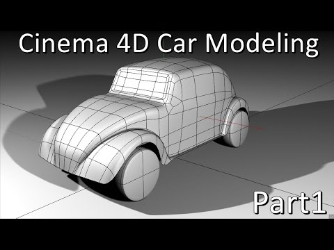 Cinema 4D | Car | Modeling (beetle vw) Pt1