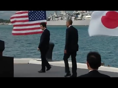 Obama & Japan Prime Minister Abe Speak At Pearl Harbor- Full Event