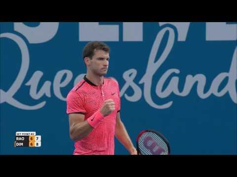 Dimitrov/Raonic Match Highlights (SF) | Brisbane International 2017