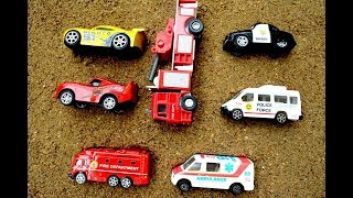 Learning Color With Fire Truck Ambulance Police Van | Videos For Kids |