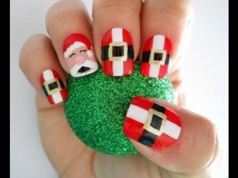 holiday nail tutorial - santa claus