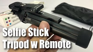 Bluetooth Selfie Stick with Remote Shutter and Tripod Stand Handle by Cyber Cart Review