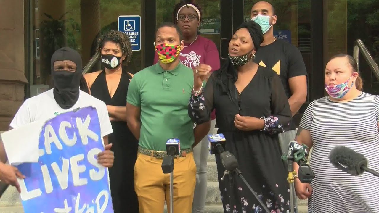 Community Justice Initiative press conference at City Hall over Daniel prude's death (full vide