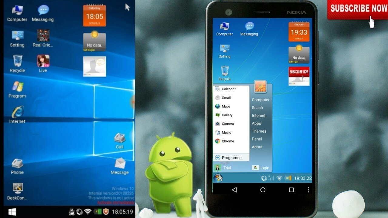 Android Windows 7 & 8 [ 2 in 1 Launcher 2018 ]