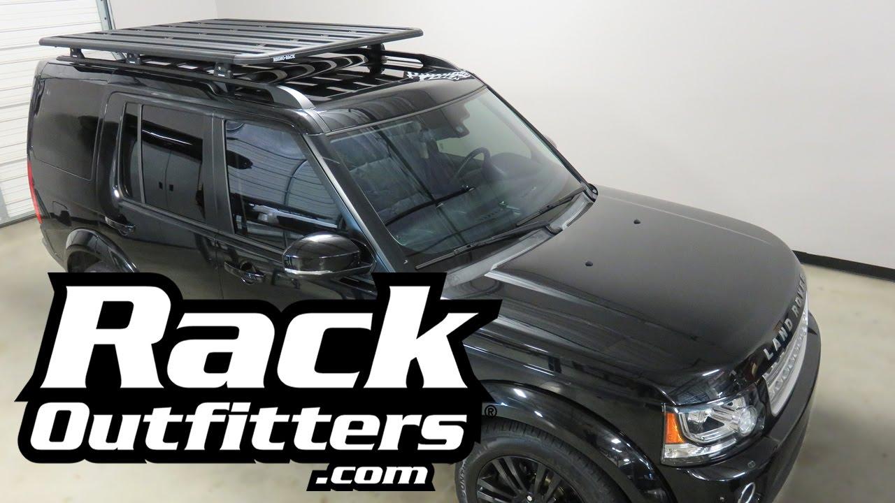 Roof Rack Platform >> Land Rover LR4 with Rhino-Rack Pioneer Platform Roof Rack - YouTube