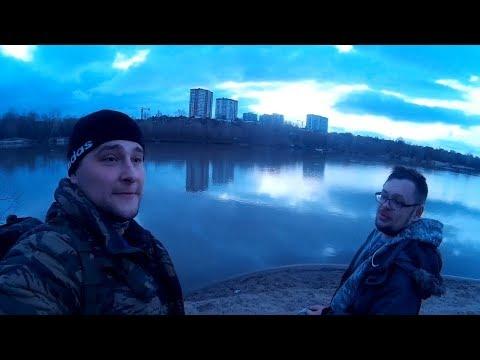 Новосибирск. Рыбалка на Оби, Ельцовка ул.Сухарная (апрель 2019)