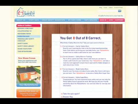 Home Safety Council Website Highlight Reel from Going Interactive