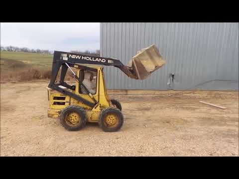 1988 New Holland L555 skid steer for sale | no-reserve Internet auction  December 27, 2017