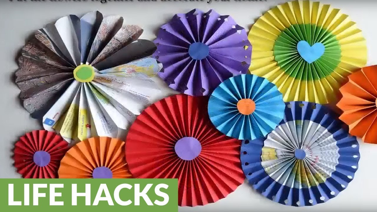 Diy wall decorations how to make paper rosette flowers youtube diy wall decorations how to make paper rosette flowers mightylinksfo Choice Image