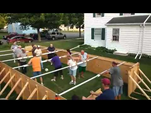 table football human foosball baby foot g ant youtube. Black Bedroom Furniture Sets. Home Design Ideas