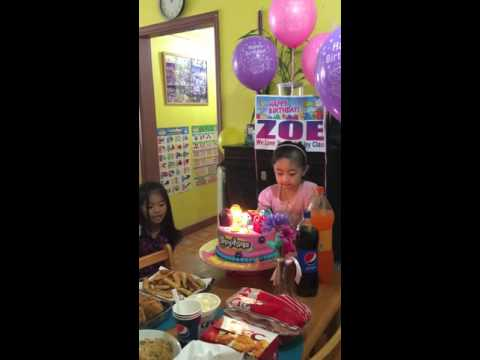 Zoe's 6th birthday april 24,2016
