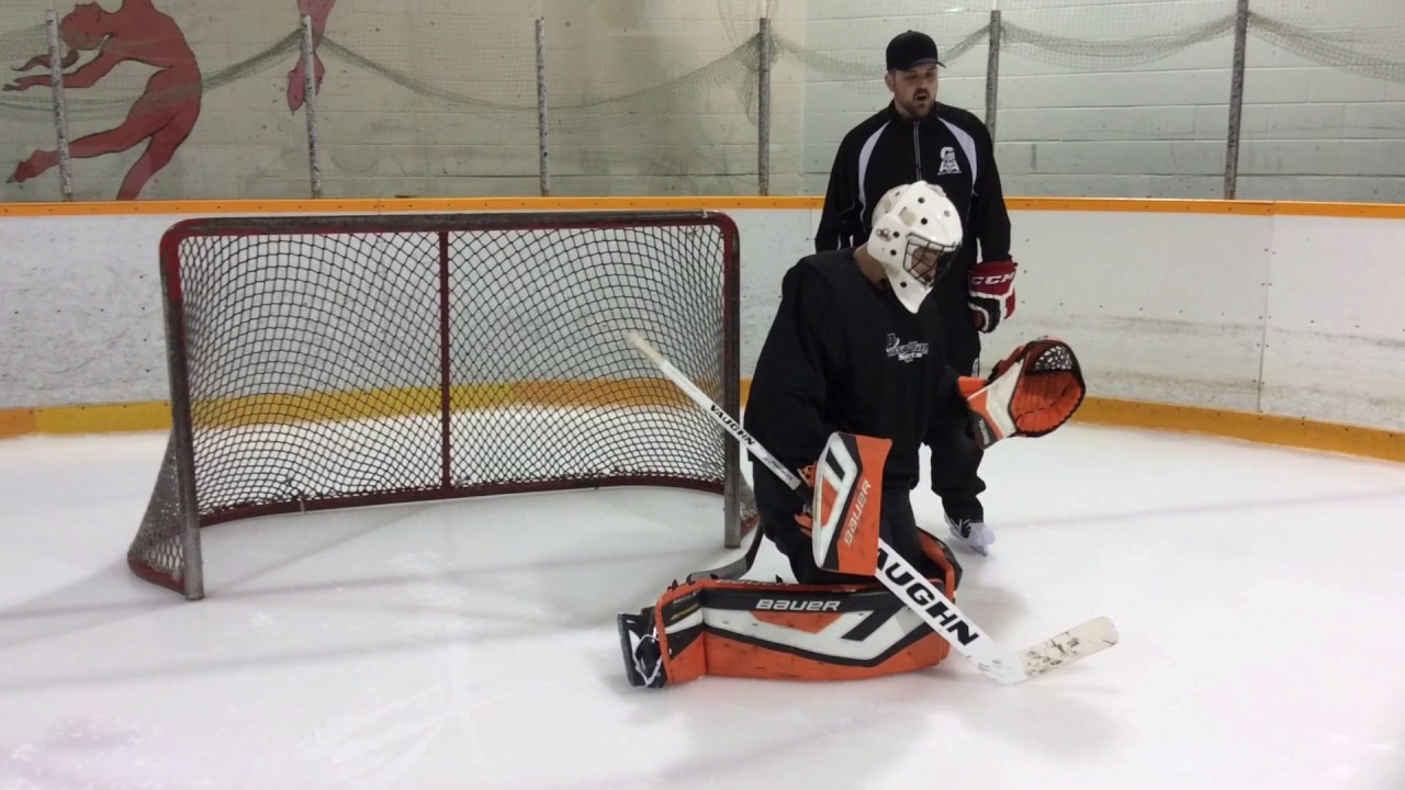 Goalie Training Tips Getting Up With The Correct Leg Youtube