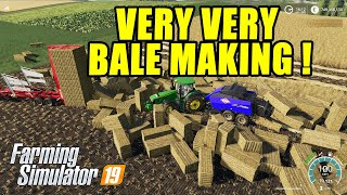 Farming Simulator 19   Very Very Bale Making !! Fantastic Kuhn Baler Mod!!