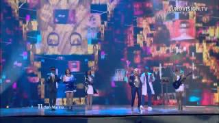 Valentina Monetta - The Social Network Song - Live - 2012 Eurovision Song Contest Semi Final 1