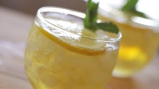 Mint Julep Cocktail Bourbon Classic Recipe || KIN EATS