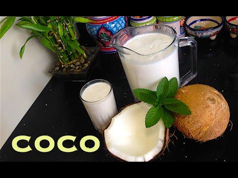 Receta de Agua fresca de Coco ( muy rica y refrescante )