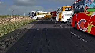 """🔴 SRS Travels Indian Bus """"Live Road Accident with Truck"""" - Volvo Sleeper Bus Mod - ETS2 Driving Game"""