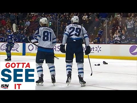 GOTTA SEE IT: Patrik Laine Scores Hat Trick For Jets Against Canucks
