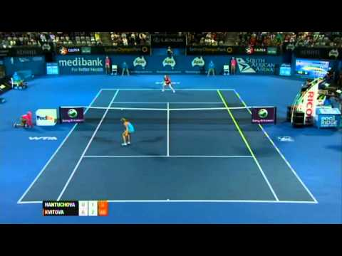D. Hantuchova v P. Kvitova Highlights Women's Singles Quarter Final: Sydney International 2012