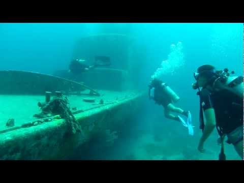 Guided dive on the INS Storm. 27m max depth. Camera: Go Pro H2