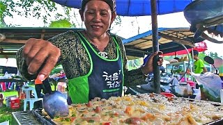 Muslim Thai Street Food Tour in Thailand | A Halal Food Market in Country Thailand