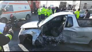Accident cu 4 maşini la Curtea de Argeş
