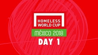 LIVE | Day 1 Homeless World Cup 2018 | Pitch 1