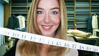 ASMR Suit Fitting Tailor Measuring You Roleplay