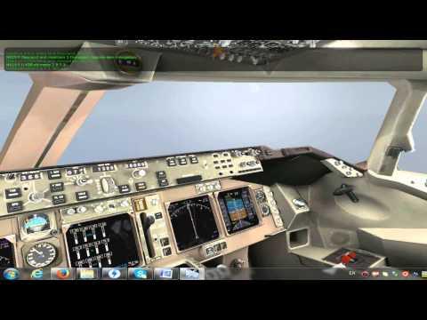 Подробное описание полета для новичков в X-plane 10, (самолет Boeing 747 United)
