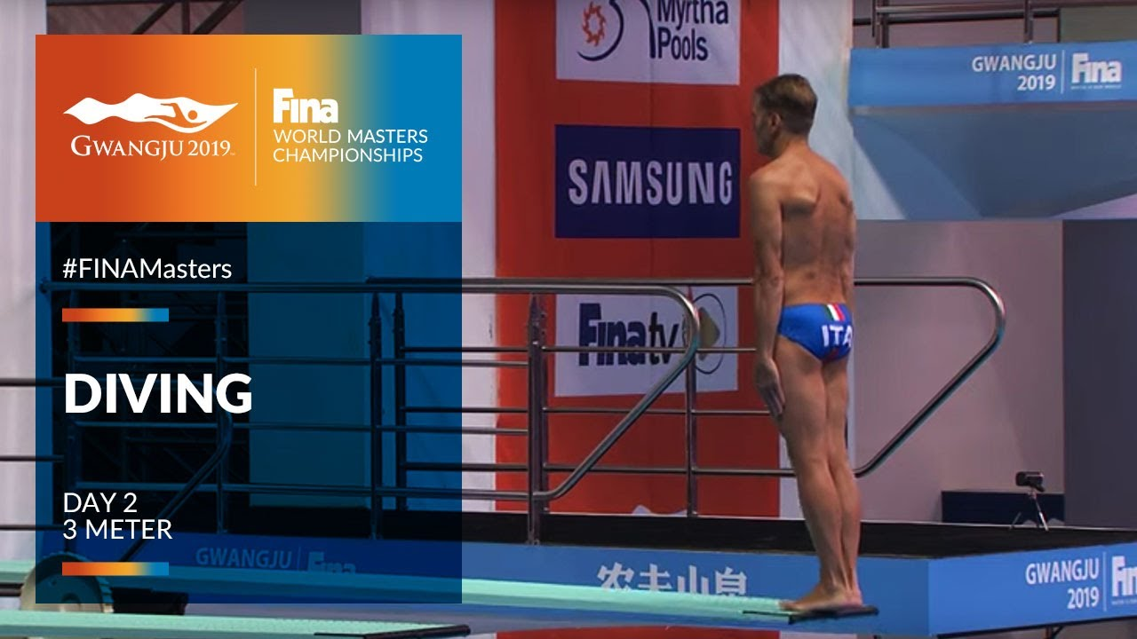RE-LIVE   Diving Day 2   3m   FINA World Masters Championships 2019