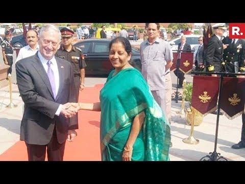 Nirmala Sitharaman & US Defence Secretary James Mattis Issue Joint Press Statement