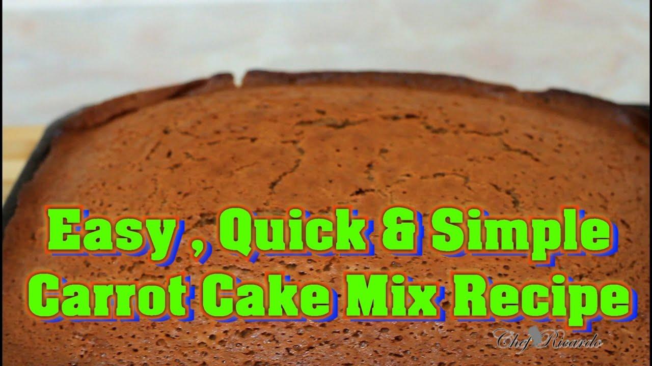 Easy Carrot Cake Recipe Youtube