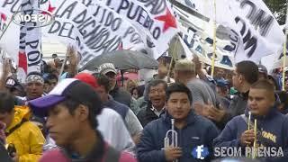 """Video: ACTO Y MARCHA #21F // """" """" Vamos a exigir al Gobierno que cumpla con el pueblo y los municipales..."""""""