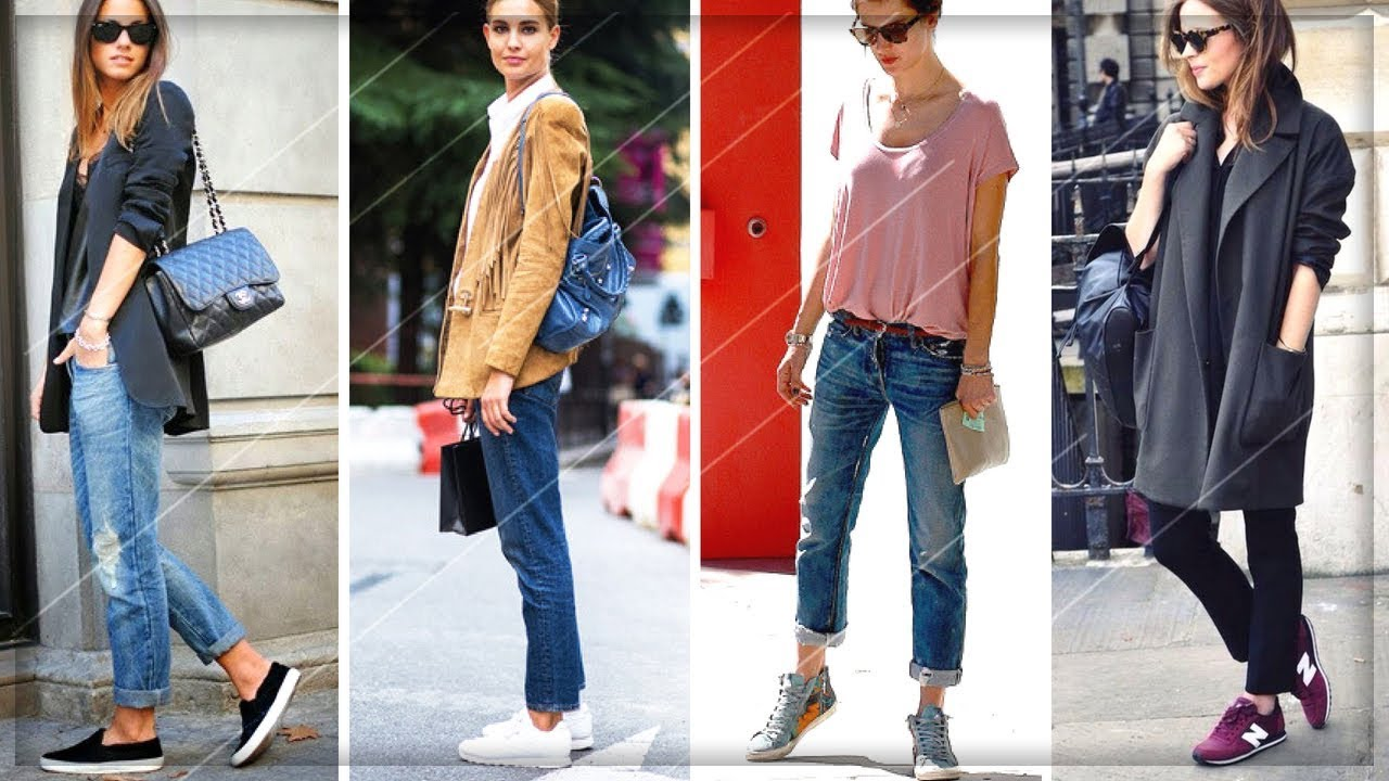 HOW TO WEAR JEANS WITH SNEAKERS WOMEN