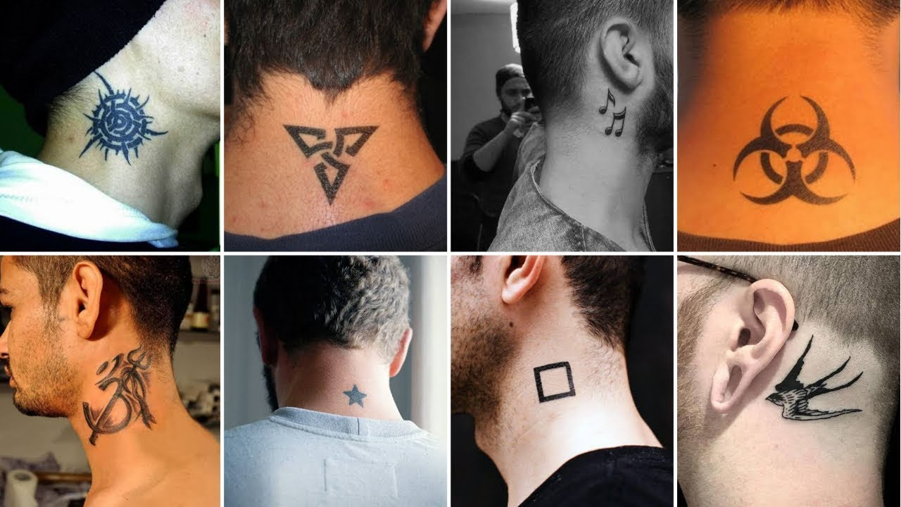 20 Simple & Cute Neck Tattoos For Men   Latest Neck Tattoos ...