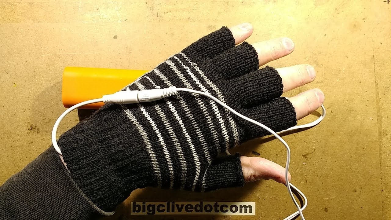 usb powered heated gloves test and disassembly  [ 1280 x 720 Pixel ]
