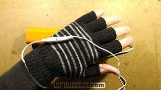 USB powered heated gloves.  Test and disassembly.