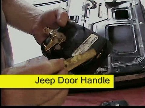 Door handle replacement jeep cj7 or wrangler yj how to diy - Installing a lock on a bedroom door ...