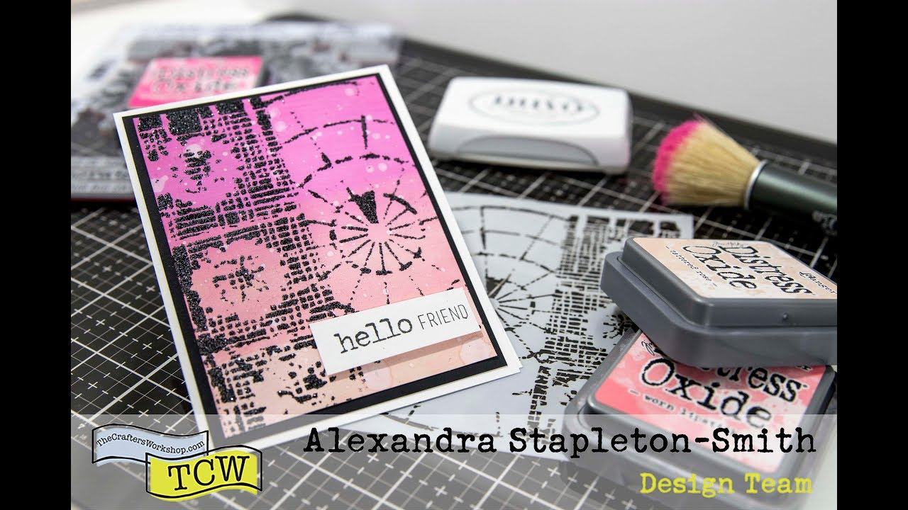 Stretch your stencils: Use them like stamps with heat embossing ...