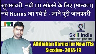 Affiliation Norms for Opeaning New ITIs for Session 2018-19