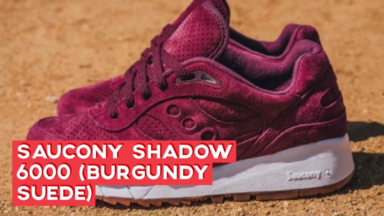 saucony shadow 6000 burgundy