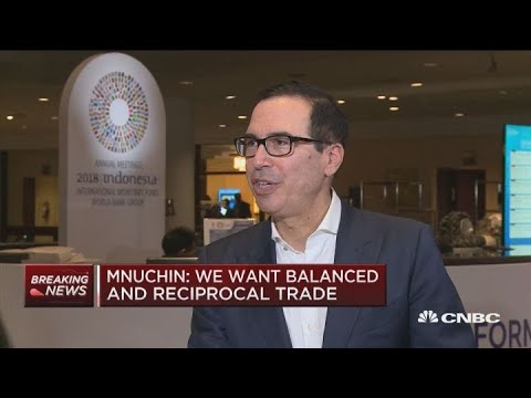 Sec. Mnuchin: China selling US Treasurys would be costly for them