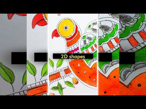 #shorts What shape is used for Madhubani Mithila Painting ? Indian Folk Painting #youtubeshorts