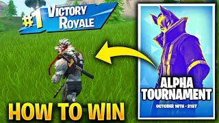 FORTNITE ALPHA TOURNAMENT (SOLO) IN GAME TOURNAMENTS - HOW TO WIN ALPHA SOLOS Fortnite Battle Royale