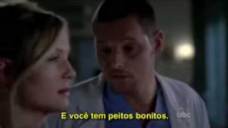 Arizona Robbins and Alex Karev funny scene -Grey