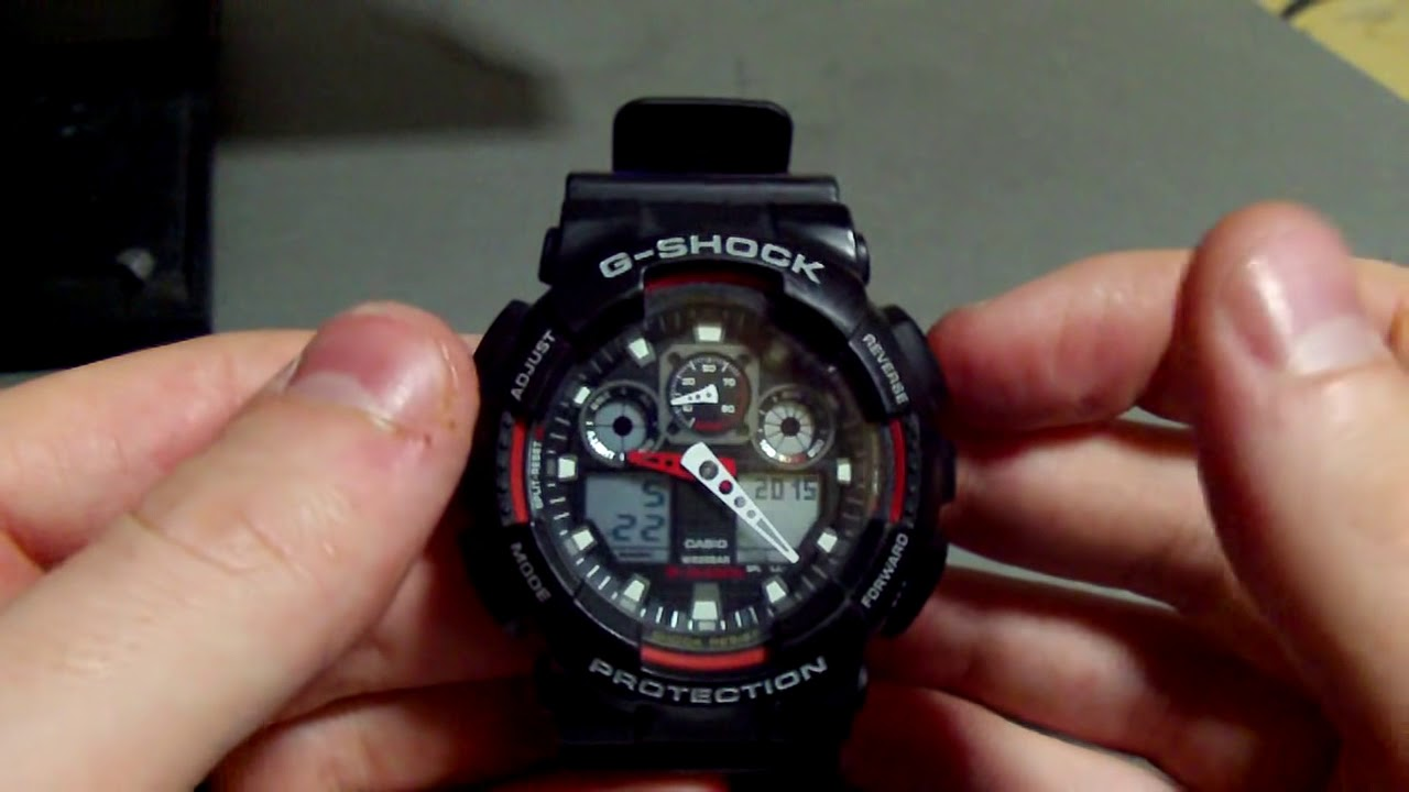 991b3905bcf8 How To  Change the time and date on a G-shock (5081) watch - YouTube