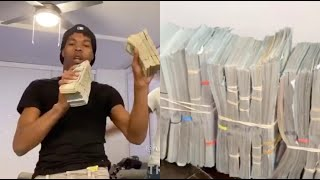 Lil Baby Cant Stop Counting Money Finds Another Million In His Closet