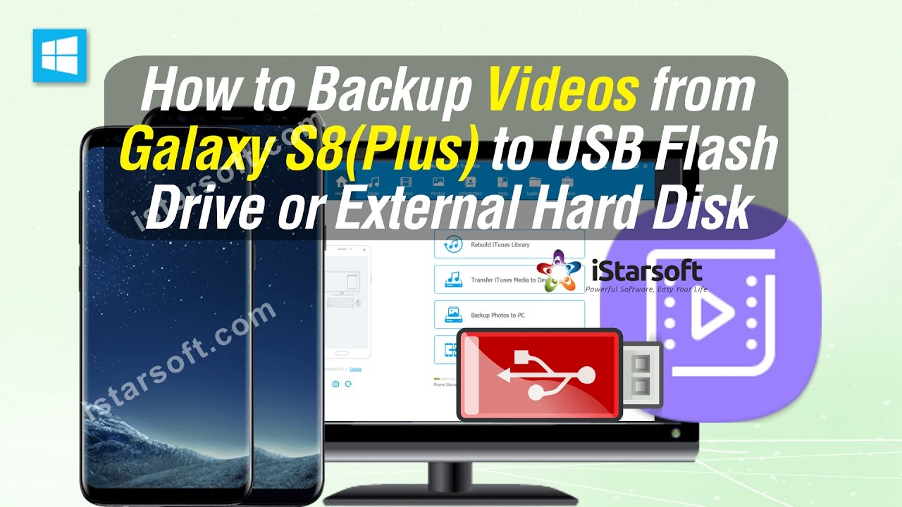 How to Backup Videos from Samsung Galaxy S8 (Plus) to USB Flash Drive or  External Hard Disk