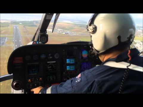 Eurocopter EC135 Cockpit + Bell 222 startup.